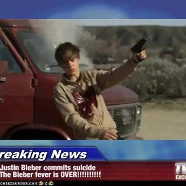 Breaking News - Justin Bieber commits suicide The Bieber fever is OVER!!!!!!!!!!