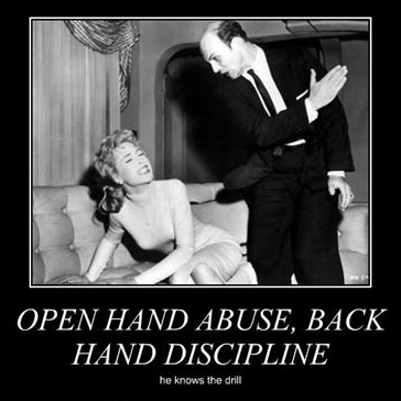 OPEN HAND ABUSE, BACK HAND DISCIPLINE