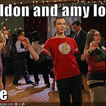 Sheldon and amy look   alike