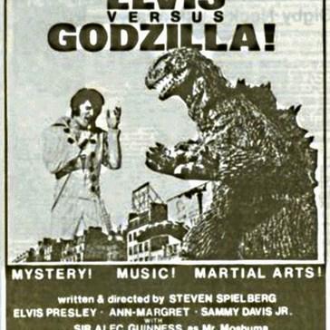 Elvis vs. Godzilla!