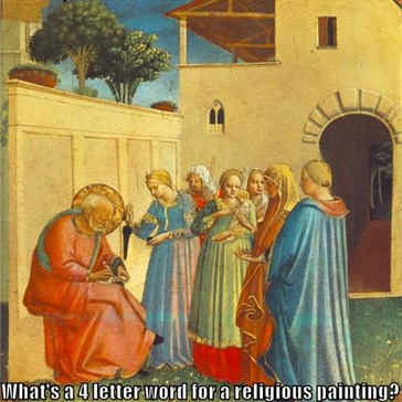 7 down, hmm...   What's a 4 letter word for a religious painting?