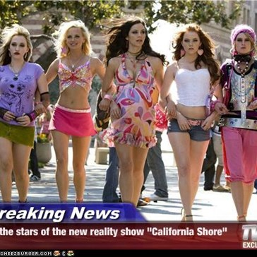 "Breaking News - the stars of the new reality show ""California Shore"""