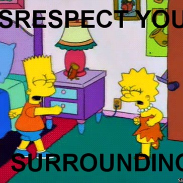 DISRESPECT YOUR SURROUNDINGS