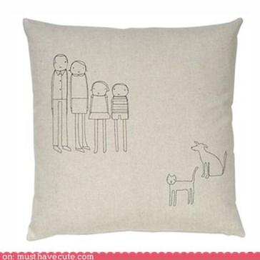 Custom Family Portrait Pillow