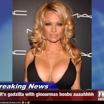 Breaking News - it's godzilla with ginourmas boobs aaaahhhh