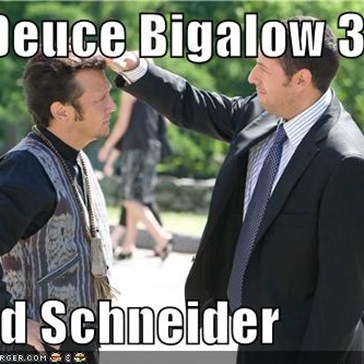 No Deuce Bigalow 3?  Good Schneider
