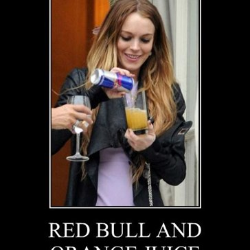 RED BULL AND ORANGE JUICE