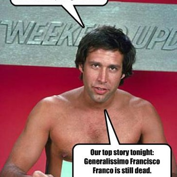 Good evening, I'm Chevy Chase naked, and you're not.