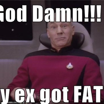 God Damn!!!  My ex got FAT!