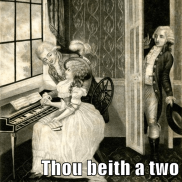 Thou beith a two timin bitch