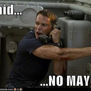 I said...  ...NO MAYO!!!