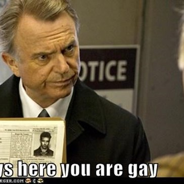 It says here you are gay