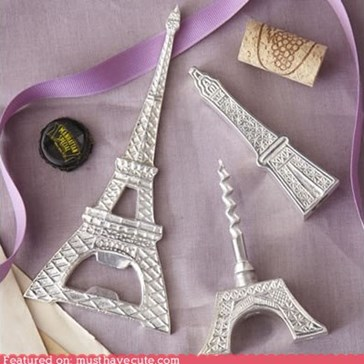 Eiffel Tower Bottle Opener & Corkscrew