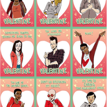 """Community"" Themed Valentine's Day Cards"