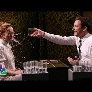 Lindsay Lohan and Jimmy Fallon Have a Wet T-Shirt Contest