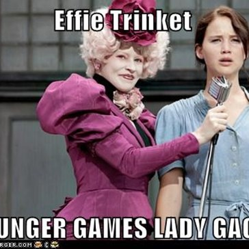 Effie Trinket   HUNGER GAMES LADY GAGA