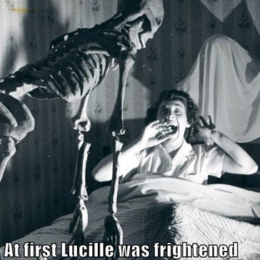 At first Lucille was frightened by Steve's big boner