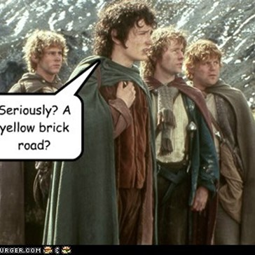 Seriously? A yellow brick road?