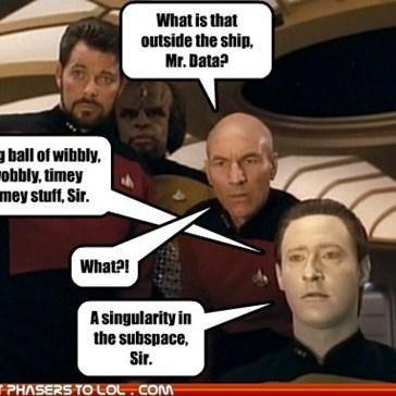 Mr. Data Knows his Technobabble!