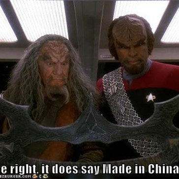 You're right, it does say Made in China