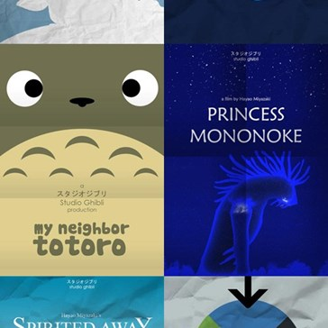 Minimalist Miyazaki Posters