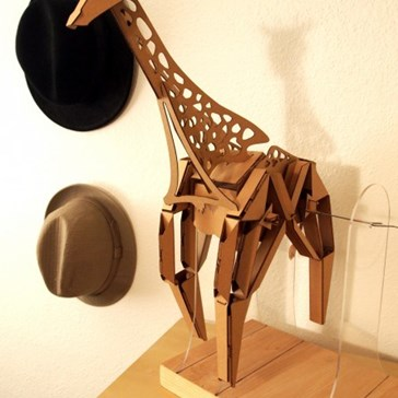 Walking Cardboard Giraffe