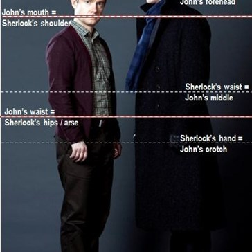 Sherlock (BBC) - Perfect Height Difference