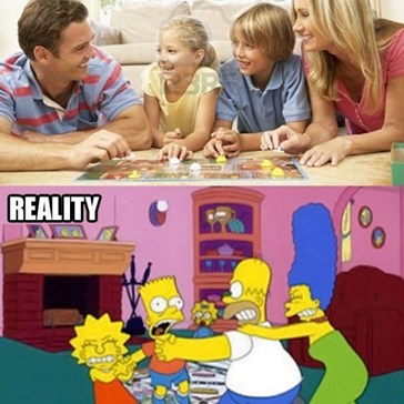 Family Game Night: Expectation vs Reality