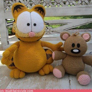 Amigurumi Garfield and Pookie