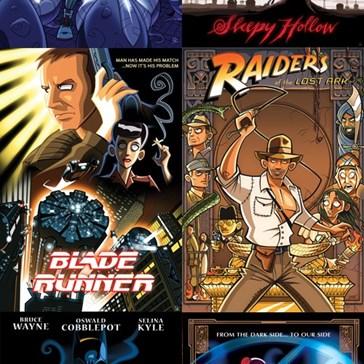 Cartoon-Style Sci-Fi Movie Posters