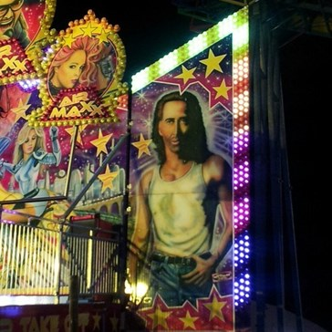 Not Sure I'd Trust a Carnival Ride Featuring an Airbrushed Nicolas Cage