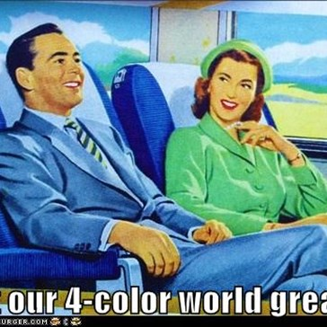 Isn't our 4-color world great?!