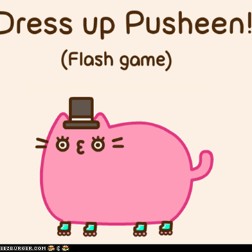 Dress Up Pusheen: A Flash Game