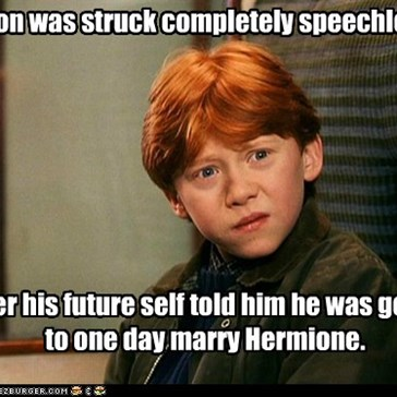 Ron was struck completely speechless