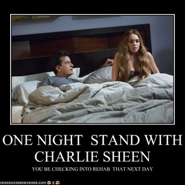 ONE NIGHT  STAND WITH CHARLIE SHEEN