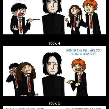 The 7 Stages of Snape Denial