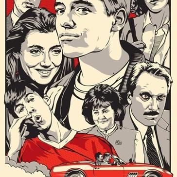 """Mondo Poster for """"Ferris Bueller's Day Off"""""""