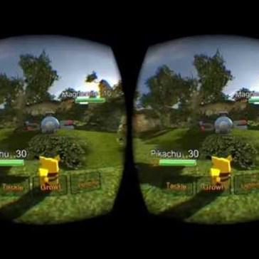 Virtual Reality Pokémon Using an Oculus Rift!