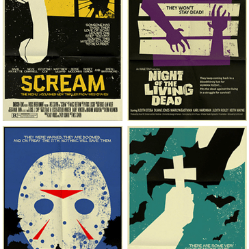 Minimalist Movie Posters: Scary Movie Edition