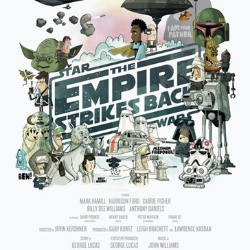 Illustrated Star Wars Posters