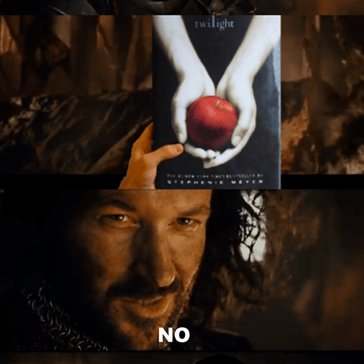 Lord of the rings - Twilight - my first meme hope you like it