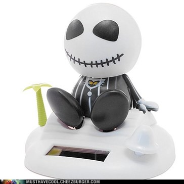 Solar Powered Jack Skellington Bobble Head