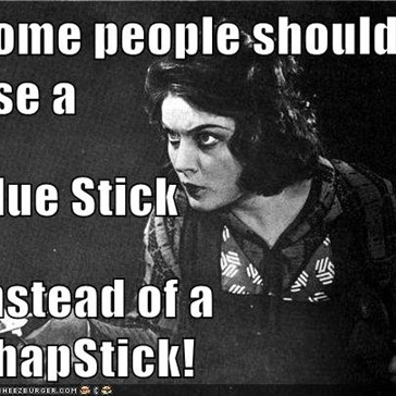 Some people should use a Glue Stick Instead of a ChapStick!