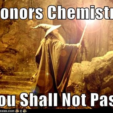 Honors Chemistry  You Shall Not Pass