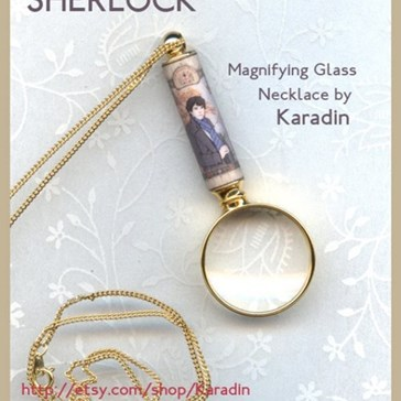 Magnifying Glass Necklace For a True Sleuth