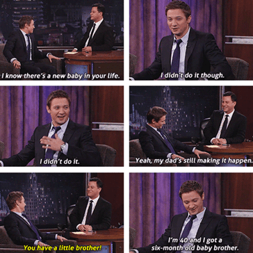 Jeremy Renner: The Cool Older OLDER Brother!