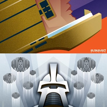 Art Deco Battlestar Galactica