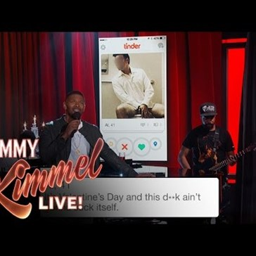 Jamie Foxx Sings Tinder Profiles. Enough said.