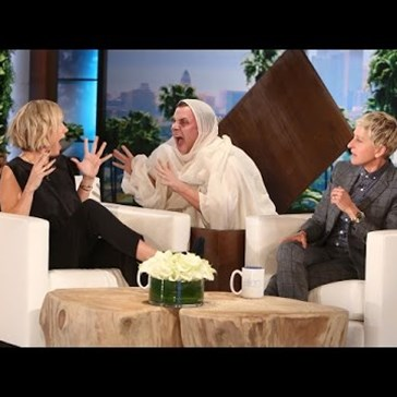 Ellen DeGeneres Nearly Flips Kristen Wiig's Wig with Ghost Prank