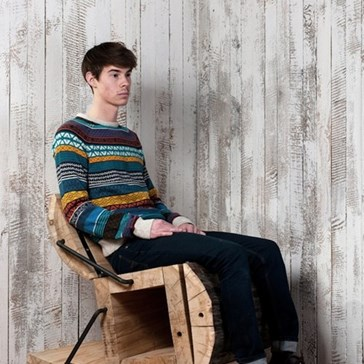 Roll Out in This Handsome Log Chair